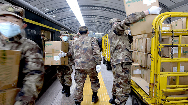 PLA allocates emergency medical supplies to Wuhan