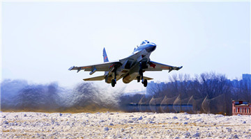 Fighter jets fly to cruise altitude
