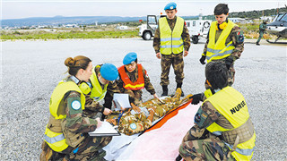 Chinese peacekeepers participate in UNIFIL air rescue drill in Lebanon