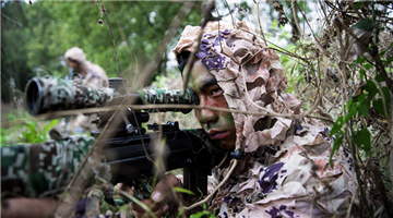 Scouts sight in on targets in jungle