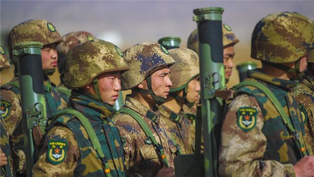 Artillerymen fire portable rockets