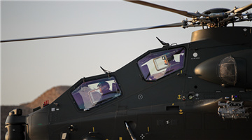 Attack helicopters lift off for mission