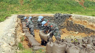Chinese peacekeepers to Lebanon conduct emergency UN repair task