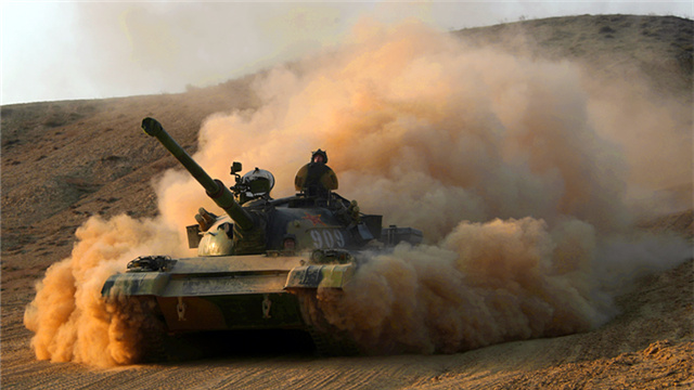 MBT moves forward to designated training field