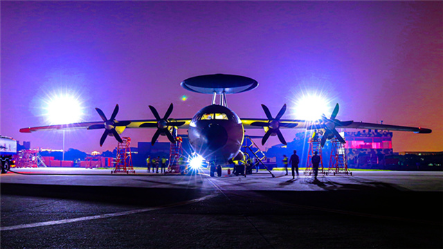 AEW aircraft perform patrol mission