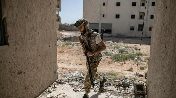 Fighters of UN-backed GNA seen in Salah Al-Din frontline in Tripoli