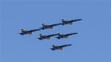 U.S. Blue Angels fly over Texas, Louisiana to honor coronavirus frontline workers