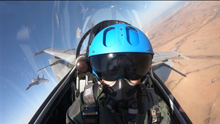 Wonderful cockpit view with J-15 fighter jet