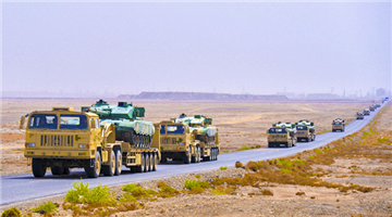 Armored vehicles in long-distance maneuver