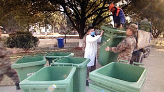 Military units take serious part in garbage sorting for environmental protection