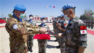 Chinese peacekeepers in Lebanon awarded UN medal