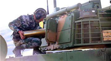 Armored elements train in plateau area