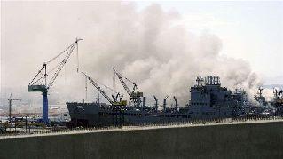 21 injured in U.S. Navy ship fire in San Diego