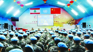 Chinese peacekeeping troops in Lebanon donate medical supplies to the local