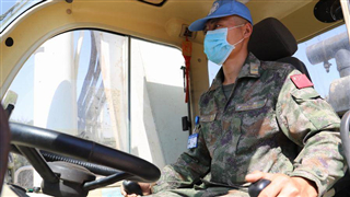 Chinese peacekeeping contingent to Lebanon carries out construction task along the Blue Line