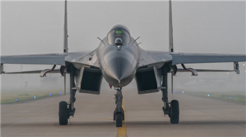 Fighter jets take off with afterburner for sorties