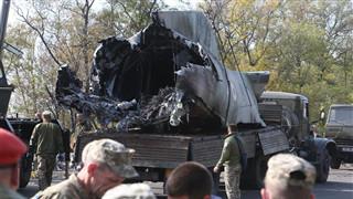 Ukrainian military plane most likely crashes