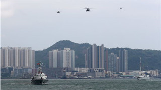 PLA Hong Kong Garrison holds joint sea-air patrol drill