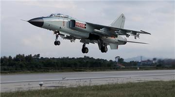 Fighter bombers execute patrol flight