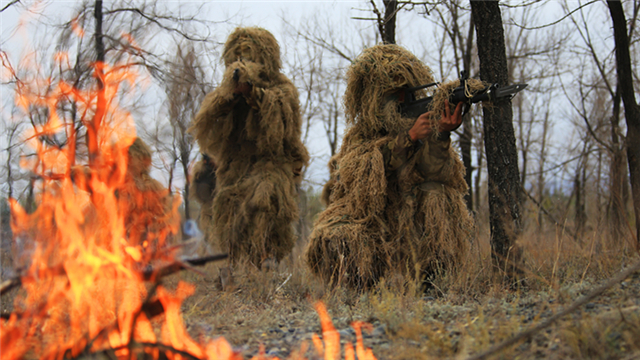 Tactical training exercise in Xinjiang