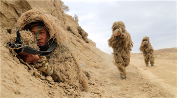 Tactical training exercise in Xinjiang