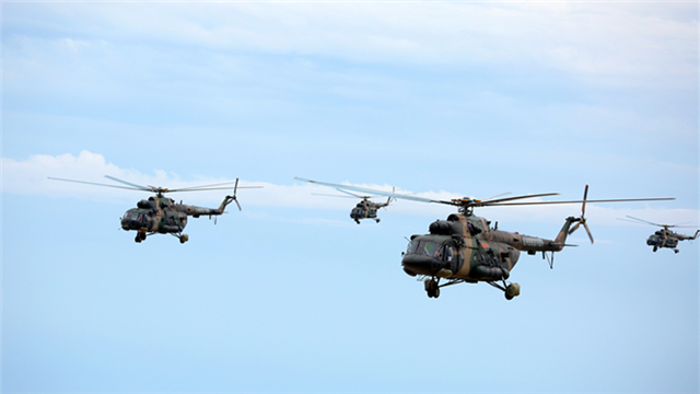 Transport helicopters in penetrating flight mission