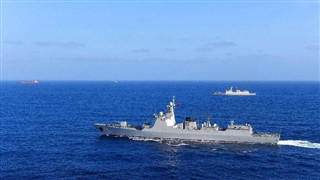 Chinese navy fleet returns from escort mission