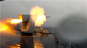 Frigate Dingzhou in maritime live-fire training