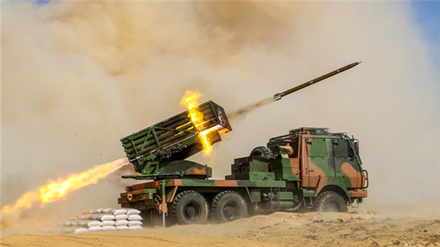 Rocket launchers in live-fire test