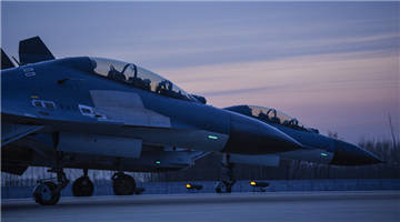 Fighter jets participate in round-the-clock flight