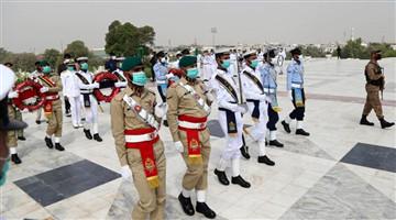 Ceremony held to mark Pakistan Day in Karachi