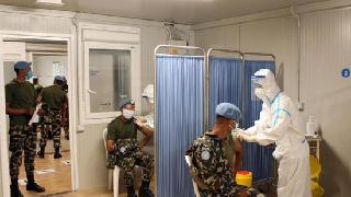 Chinese medical peacekeepers vaccinate UNIFIL troops in war-ridden Lebanon