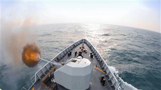 Military exercises being held in Bohai Sea