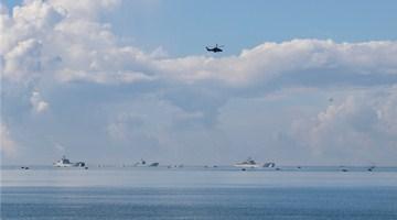 Amphibious assault vehicles in maritime training exercise