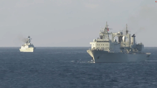 Chinese, Singaporean warships hold joint naval drill