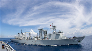 39th Chinese naval escort taskforce conducts replenishment-at-sea