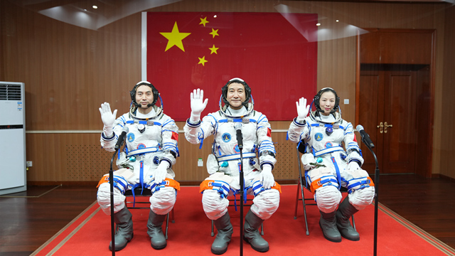 See-off ceremony held for Chinese astronauts on Shenzhou-13 mission