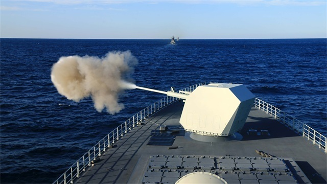 Chinese and Russian naval troops participate in Joint Sea 2021