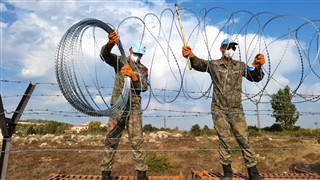 Chinese peacekeepers to Lebanon complete standard fence construction task