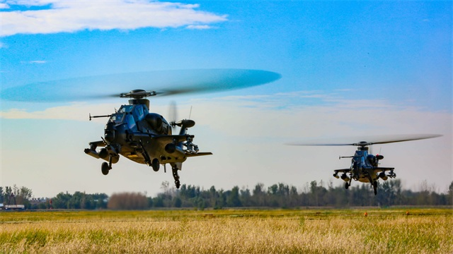 Army aviation troops conduct flight training