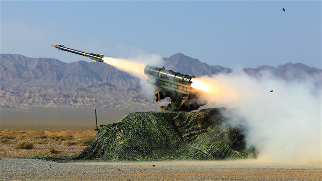 Air defense brigade holds live-fire exercise