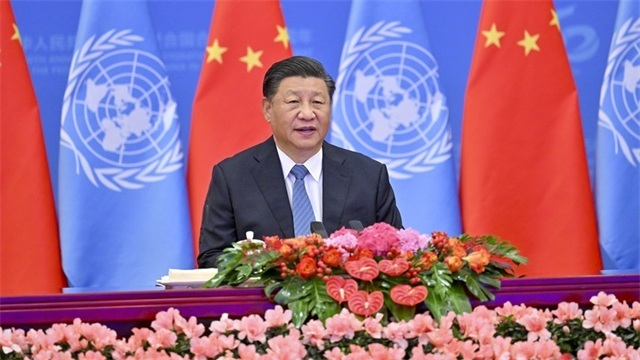 Xi attends meeting marking 50th anniversary of restoration of People's Republic of China's lawful seat in UN