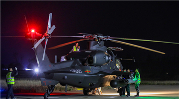 Helicopters receive power-on inspections before 24-hour flight