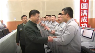 Xi visits satellite launch site, extends congratulations to successful launch