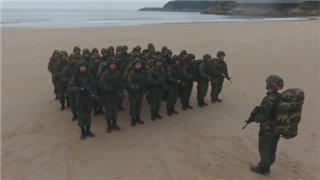 Armed police conduct anti-terror drill on southeast China's island
