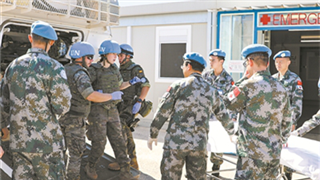 Chinese peacekeepers participate in UNIFIL medical rescue drill in Lebanon