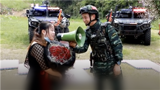 A military-style marriage proposal in central China