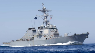 U.S. missile destroyer USS Donald Cook heads for Black Sea