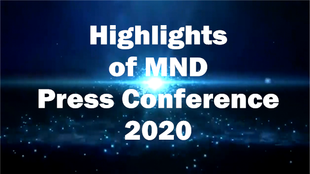Highlights of MND Press Conference in 2020