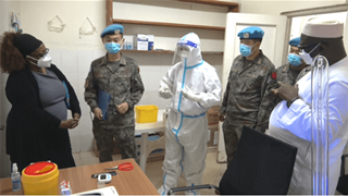 Chinese medical peacekeepers to DRC undertake UN task of COVID-19 test